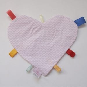Manta Sensorial Coração Listras Rosa-0
