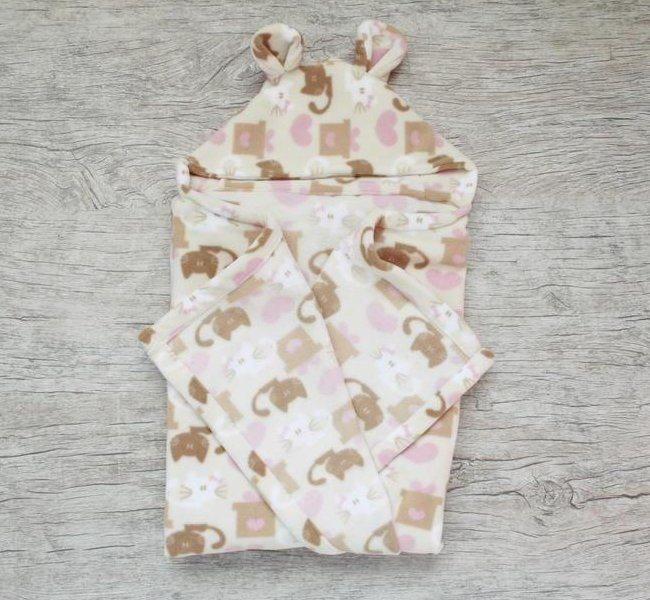 Cobertor com Capuz Gatinhos-0