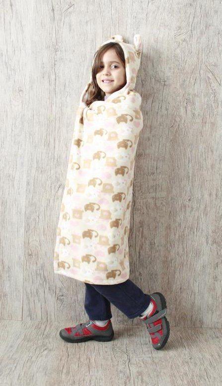 Cobertor com Capuz Gatinhos-978