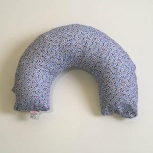 Almofada de Amamentação – Zebrinhas + capa Lisa Azul