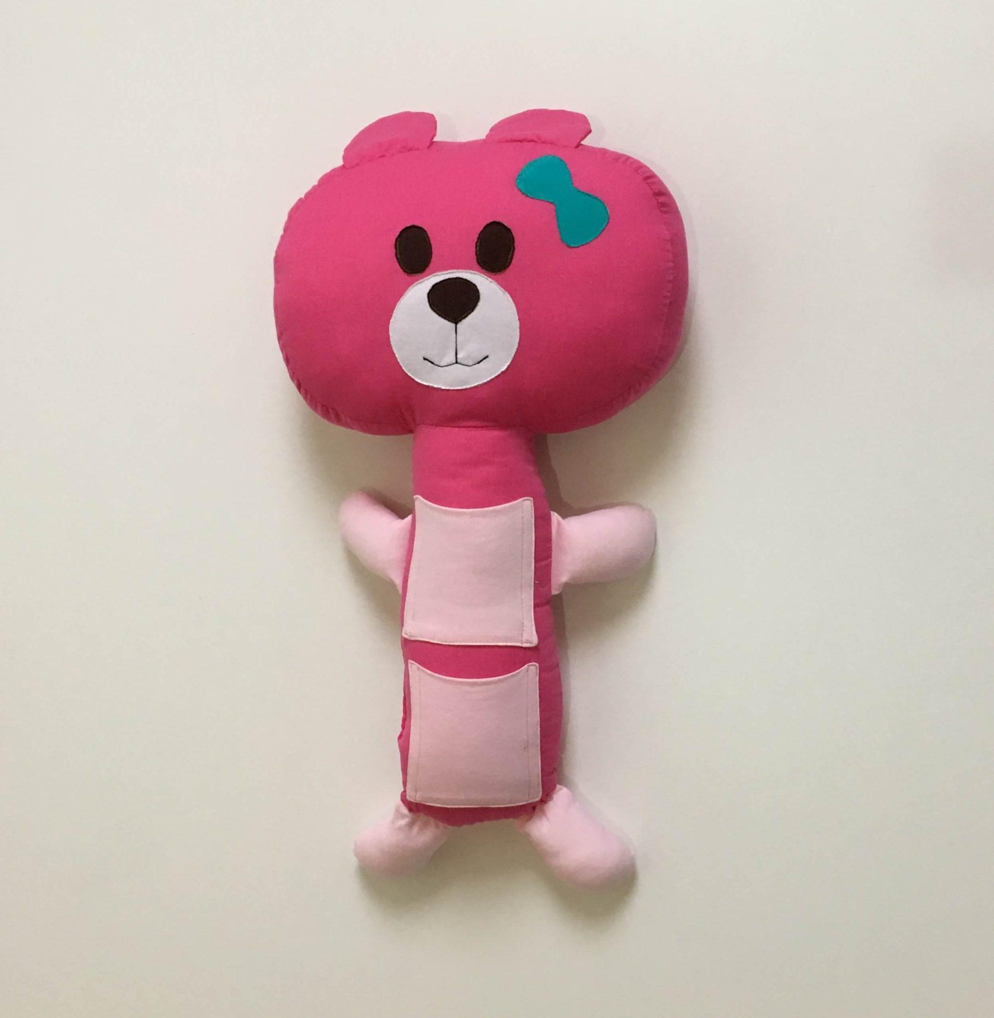 Almofada De Cinto De Segurança – Ursa Rosa