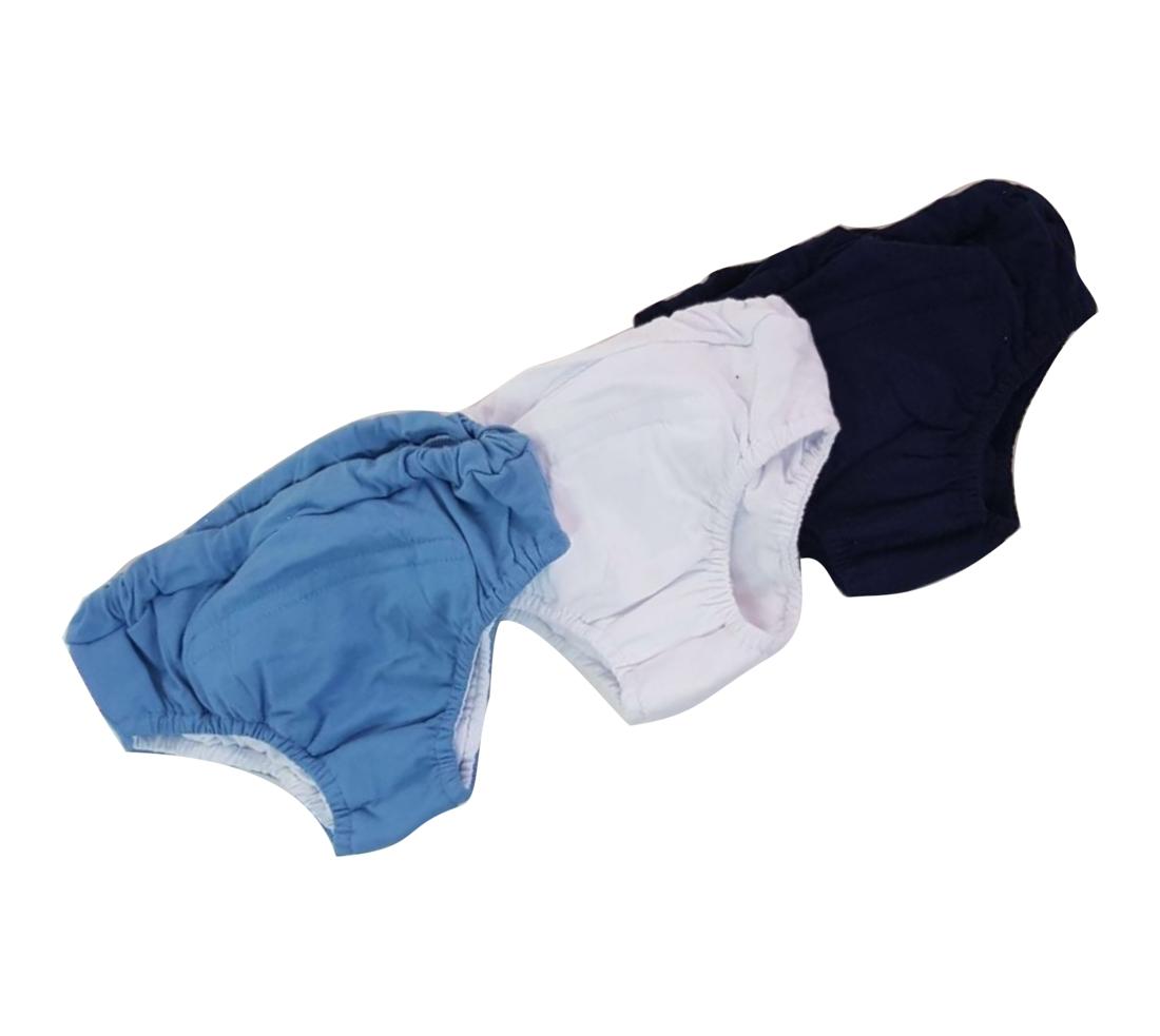 Kit Com 3 Cuecas De Desfralde Tons De Azul