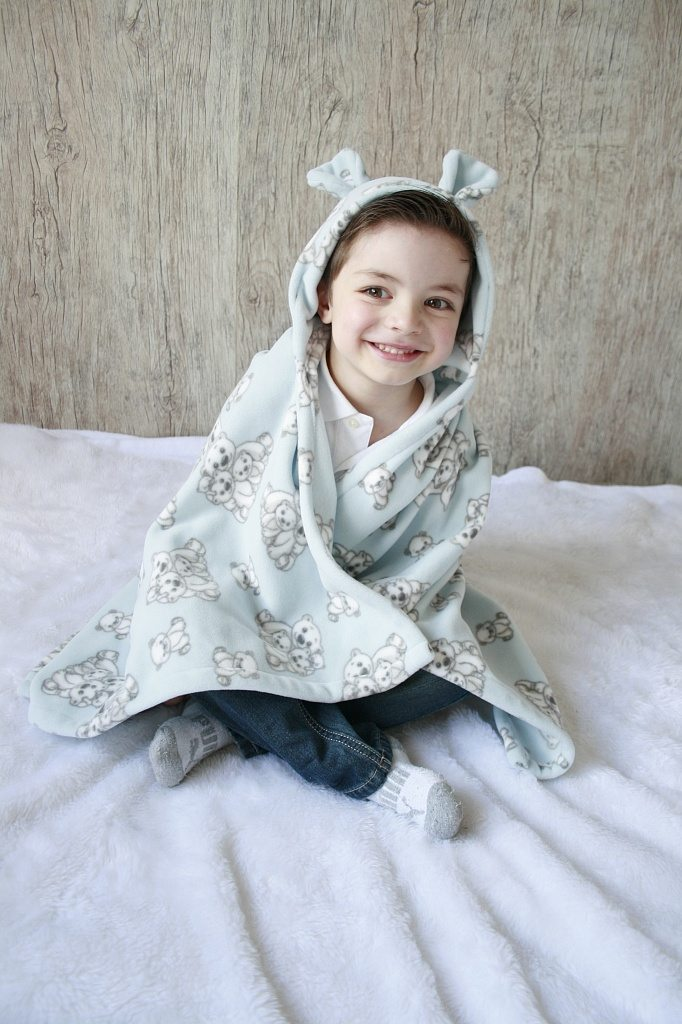 cobertor com capuz