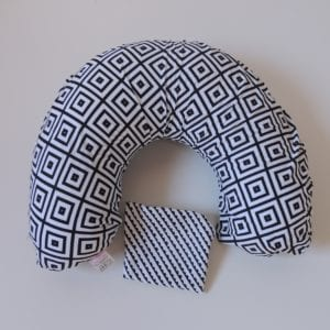 Almofada de Amamentação – Geométrica Preto e Branco + capa extra