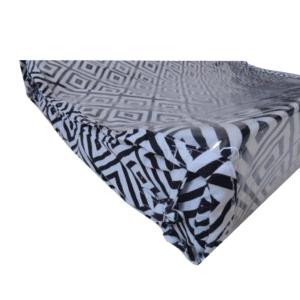 Trocador Americano Geométrico Preto e Branco