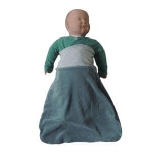 Saco de Dormir para Bebê Dupla Face Verde e Cinza – 0 a 9 meses