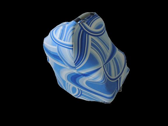 Capa Multifuncional Azul E Branco Para Mamãe E Bebê – 5 Funções