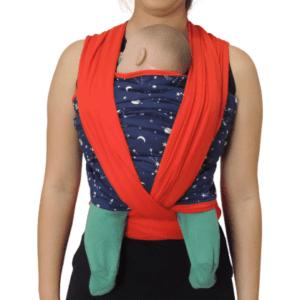 Sling Constelação Marinho Com Vermelho Colo De Mãe