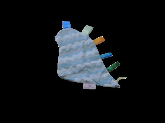 Manta Sensorial Dino Chevron Azul E Cinza
