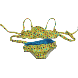 Biquíni para bebê Poá Amarelo – dispensa o uso de fralda! Lavável e reutilizável