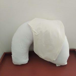 Almofada De Amamentação – Branco + Capa Extra Creme
