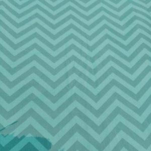 Lençol Para Mini Berço Agarradinho para colchões de 86x42x8 – Chevron Jade Colo de Mãe
