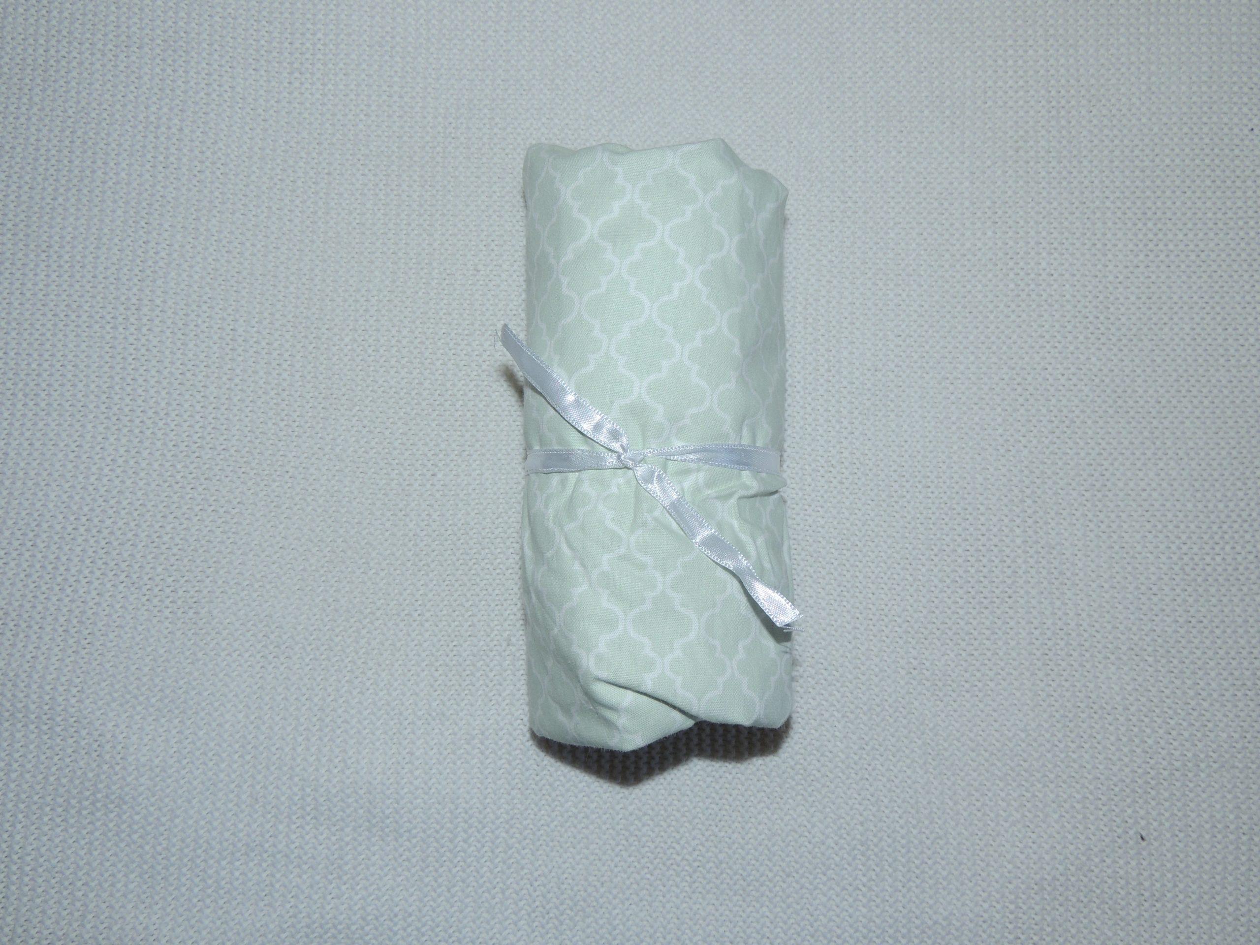 Lençol Para Mini Berço Agarradinho Para Colchões De 86x42x8 –  Marrocos Verde Colo De Mãe