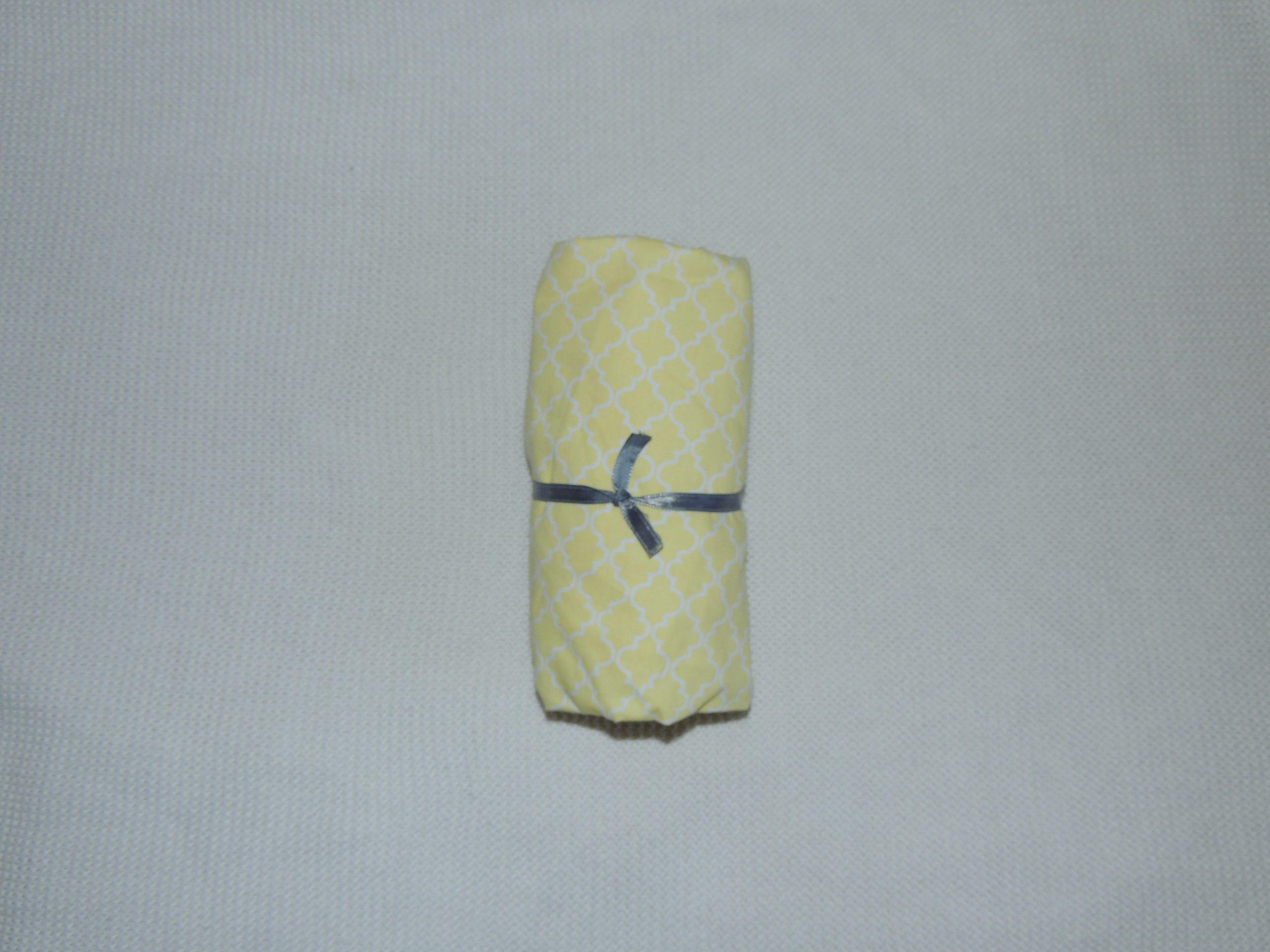 Lençol Para Mini Berço Agarradinho Para Colchões De 86x42x8 – Marrocos Amarelo Colo De Mãe