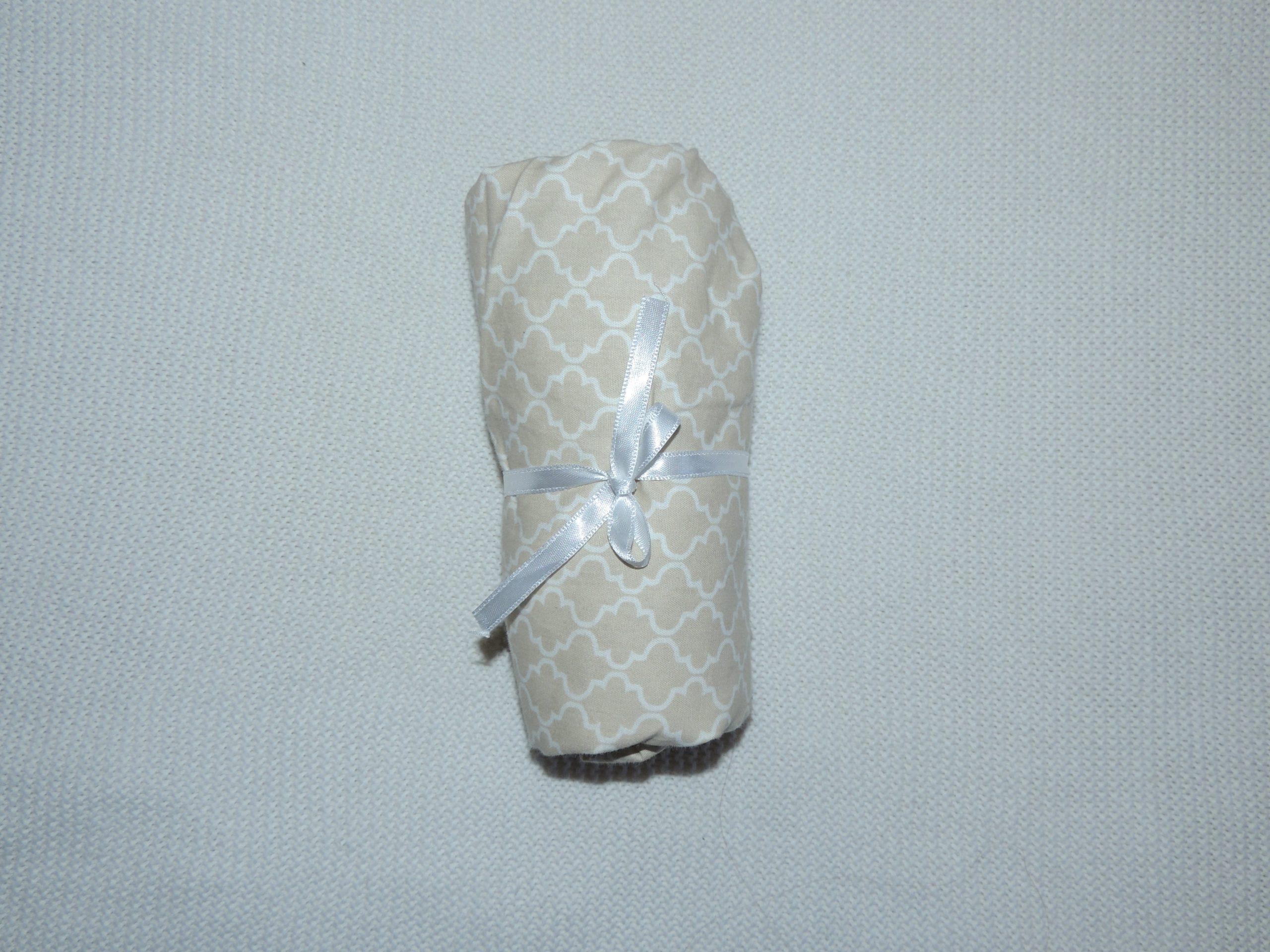 Lençol Para Mini Berço Agarradinho Para Colchões De 86x42x8 – Marrocos Bege Colo De Mãe