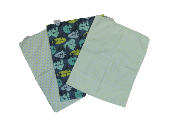 Trio De Fronhas Para Travesseiro De Bebê Yole, Floresta E Estrelas 35cm X 28cm Da Colo De Mãe _ 3 Fronhas