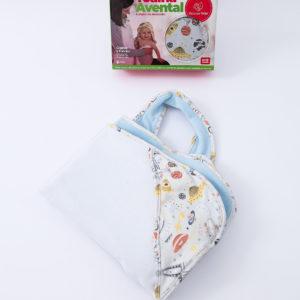 Toalha Avental Para Bebê Astronauta- Dupla Com Capuz