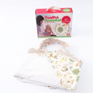 Toalha Avental para Bebê floresta – Dupla com Capuz