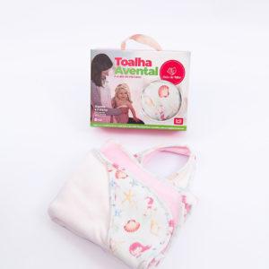 Toalha Avental para Bebê Sereia – Dupla com Capuz