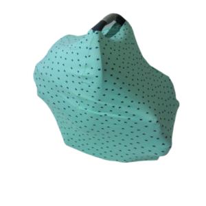 Capa Multifuncional Verde Com Corações Para Mamãe E Bebê – 5 Funções
