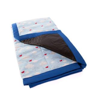 Tapete De Atividades Piquenique Impermeável E Acolchoado Céu Azul Tradicional – 1,40m X 1,40m