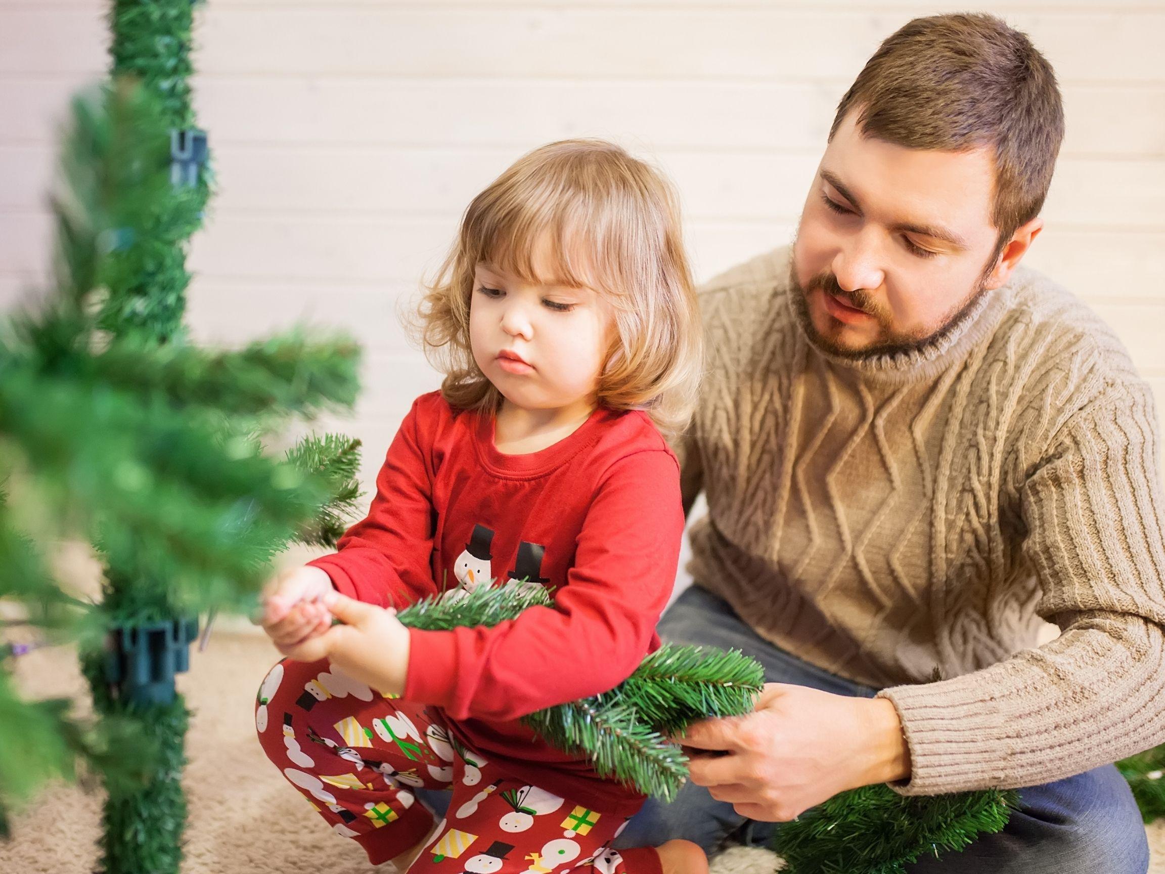 Árvore de Natal em família