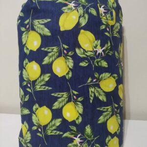 Tapete de Atividades Piquenique Impermeável e acolchoado Limões marinho – 1,40m x 1,40m