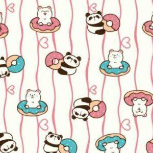 Toalha Gigante Infantil Pandas 1,20m x 1,15m
