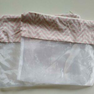 Saquinho Organizador de Roupas para maternidade – kit com 2 unidades Chevron Rosa