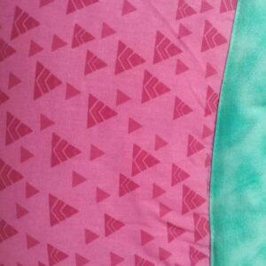 Tapete de Atividades Piquenique Impermeável e acolchoado Rosa e Verde – 1,40m x 1,40m