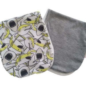 Pano de Ombro para Amamentação Tubarão – kit com 2