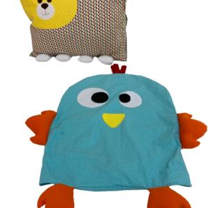 Kit Travesseiro de Urso com Fronha Extra de Galinha
