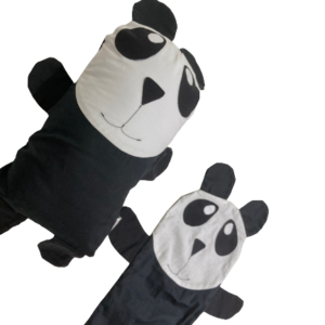 Kit Naninha de Panda Preto com Capa Extra