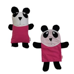 Kit Naninha de Panda Rosa com Capa Extra